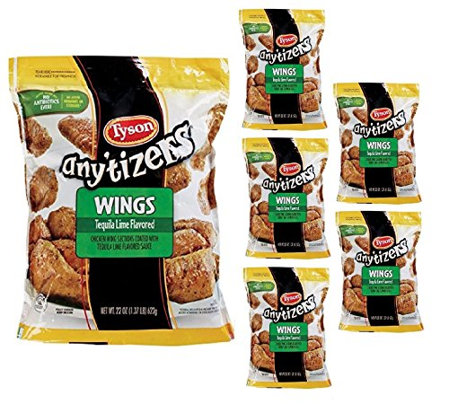 Tyson Any'tizers Tequila Lime Chicken Wings, 28 oz (Pack Of 6) by Tyson (Image #2)