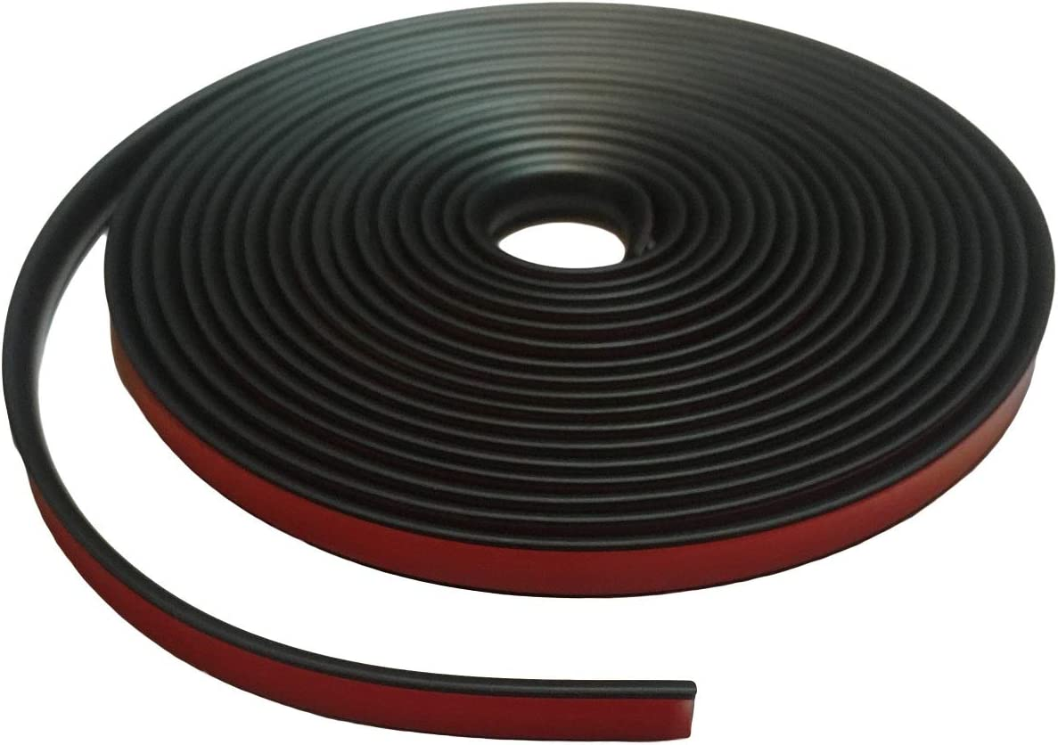 Protective Stripping Partsman Flexible Self-Adhesive Rubber Molding 1//2 Wide 20 ft Trim Edging