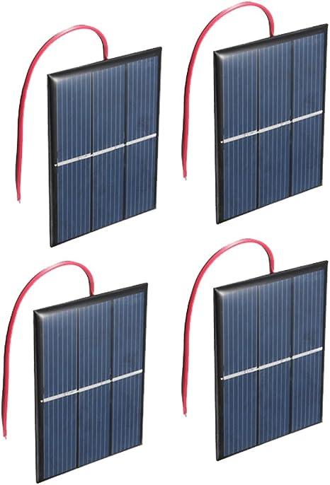Nuzamas Satz Von 4 Stück 1 5v 0 65w 60x80mm Mikro Mini Solar Panel Zellen Für Sonnenenergie Heimwerken Wissenschaft Projekte Spielzeug Akku Ladegerät Baumarkt