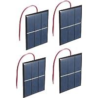 NUZAMAS Conjunto de 4 Piezas 1.5V 0.65W 60X80mm Micro Mini Celdas de Paneles solares para energía Solar, DIY Home, Science Projects - Juguetes - Cargador de batería