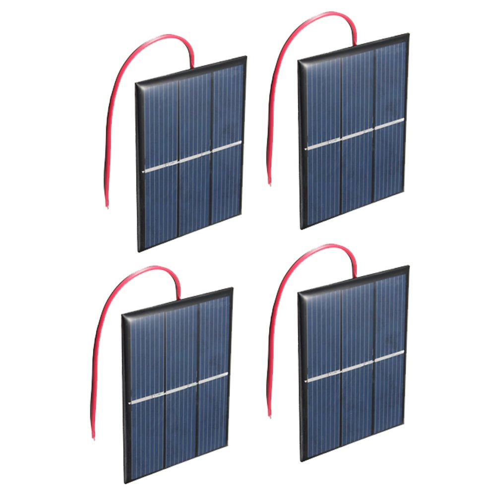 Set of 4 Pieces NUZAMAS 1.5V 0.65W 60X80mm Micro Mini Solar Panel Cells for Solar Power Energy, DIY Home, Science Projects - Toys - Battery Charger