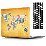 AICOO MacBook Air 11'' Case and Keyboard Cover, 2-in-1 Beautiful Hard Case Cover with Keyboard Protector for MacBook Air 11.6 inch (A1465/A1370) - Banknote Map