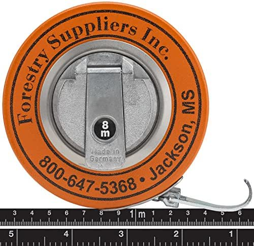 Forestry Suppliers Metric Steel Diameter Tape (Black Steel Line w/Bright Graduations)