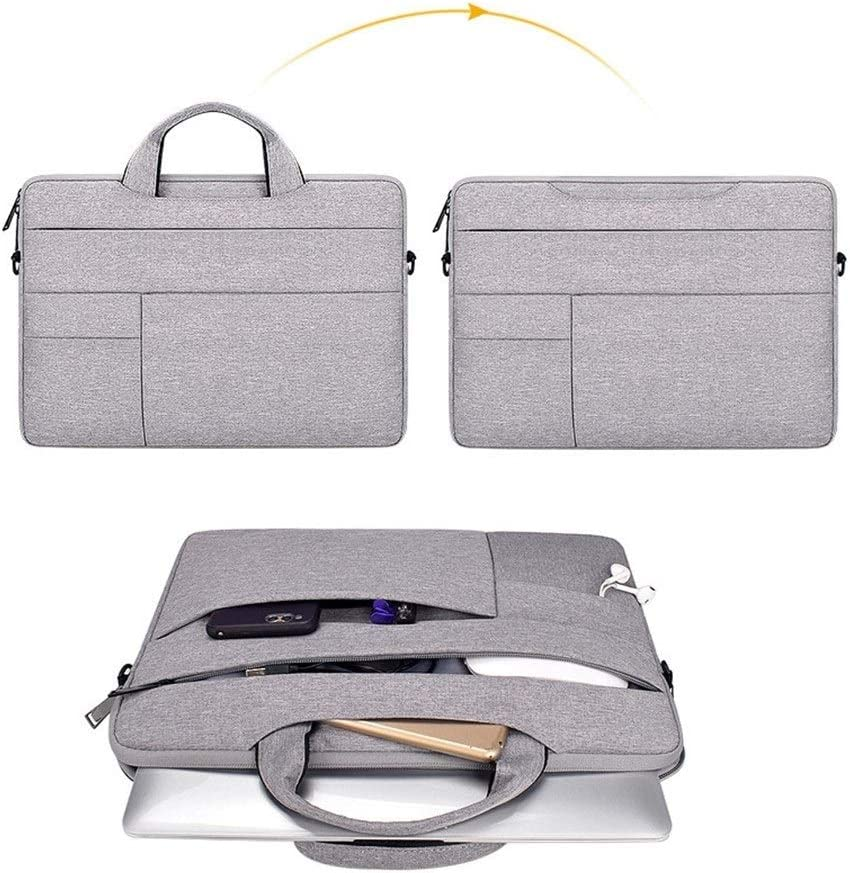 Laptop Handbag Sleeve Case Shoulder Bag Notebook Carrying Case 12 13 14 15.6 inch for 13.3 MacBook Air Pro ASUS Acer Lenovo Dell Durable and Easy to Clean Color : Deep Grey, Size : 13 inch