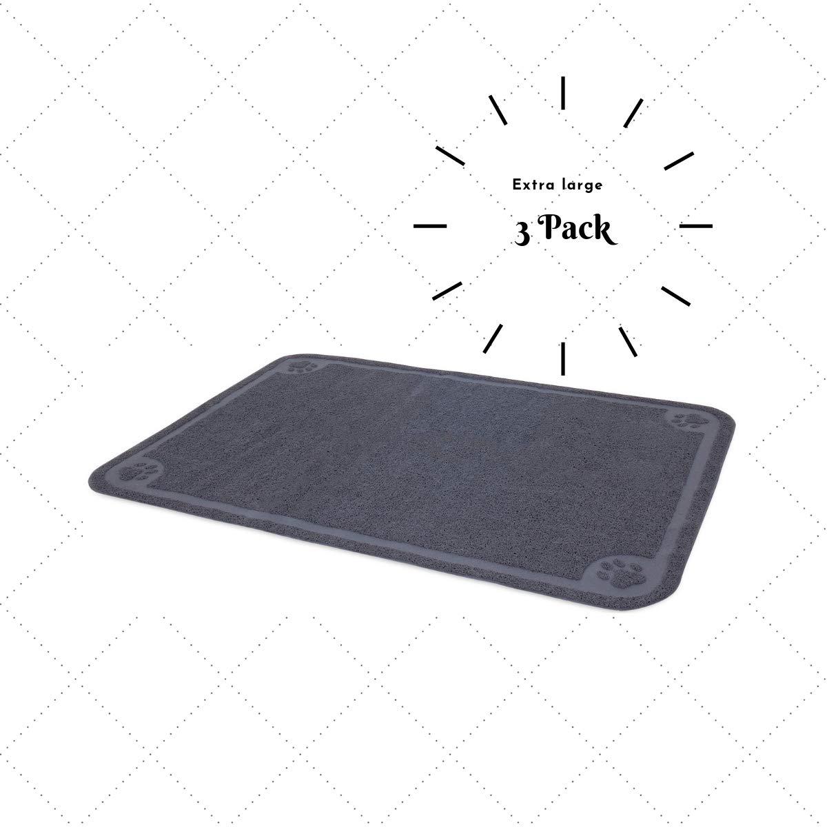 All-Absorb Catcher Cat Litter Mat (Grey 3 Pack)
