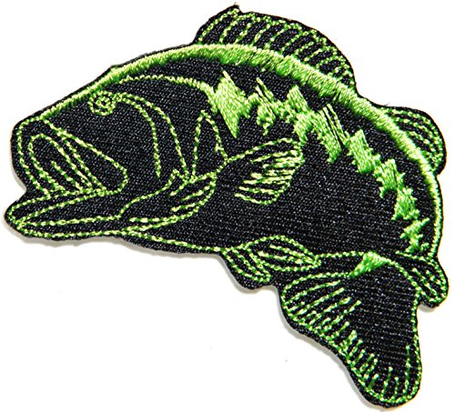 Bass Fishing Sport Fish Lure Hook Logo Jacket T shirt Patch Sew Iron on Embroidered Badge Sign Costum from panicha sport patch