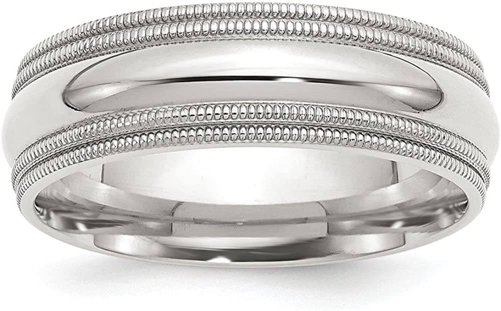 925 Sterling Silver 7mm Milgrain Wedding Band Ring Fine Jewelry Ideal Gifts For Women