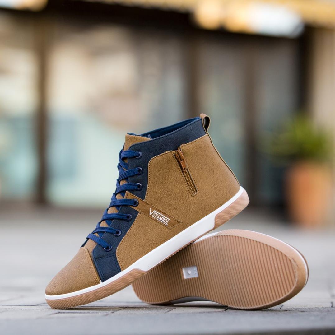 7a1be8a0be89 Kintaz Men's Casual Shoes Autumn Shoes Men Loafers Adult Moccasins Male  Shoes (8.5, Kahai)