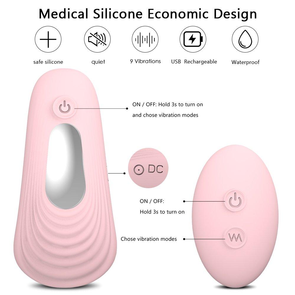 Bullet Vibrators, Xocity, Mini Wearable Vibrator with 10m Remote Control, Love Egg for Clitoris Nipple Prostate Vagina Stimulation, Silicone Vibrator for Women Men Couples with 9 Patterns