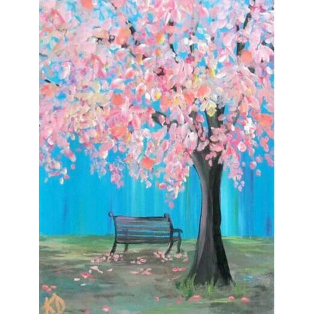 Paint by Numbers for Senior Junior Beginner Level Painting by Numbers Set Tree View with Brushes Paints and Canvas Home Decor 16X20 Inch
