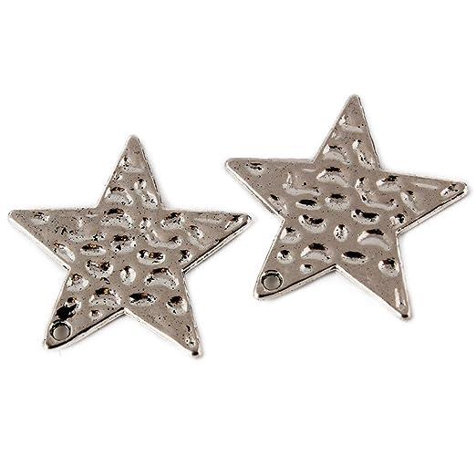 d1f26b498893 Modelo A Fabricación de abalorios y bisutería Hogar y cocina RUBY-Dijes  colgantes de Estrella zamak ...
