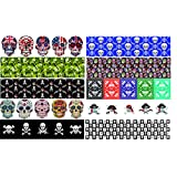 Guitar Pick Punch Refill Sheets - Skull Edition - Set of 20 - Make Cool Custom Picks With Any Guitar Pick Puncher