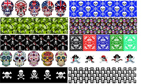 Guitar Pick Punch Refill Sheets - Skull Edition - Set of 20 - Make Custom Picks With Any Guitar Pick Puncher