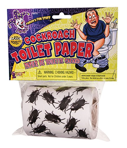 Forum Novelties 78970 Cockroach Toilet Paper Halloween Décor, One Size, Pack of 1]()