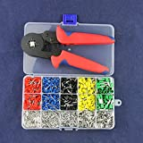 SODIAL Self-Adjustable Crimping Plier + Crimping Terminals Sets AWG24-10 Wire Cable Tube Terminals Crimping Pliers Multi Hand Tools
