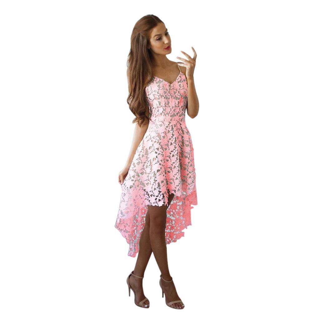 Yoyorule Women Summer V Neck Sleeveless Cocktail Party Dress