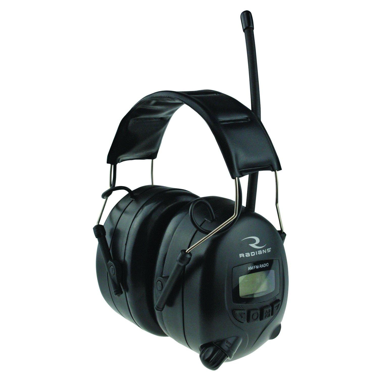 Radians Digital AM/FM Radio Earmuffs, Black AMFMD1C