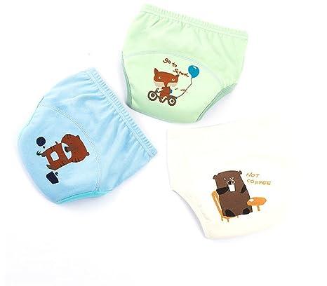 Pantalones de entrenamiento de algodón de los muchachos Ropa interior impermeable, pañales del pañal del