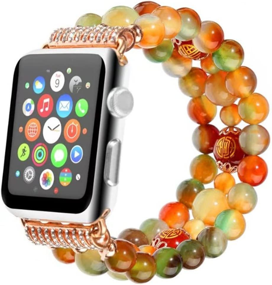 Peacock Agate Crystal Bling Rhinestone Adjustable Straps Apple Watch Accessories Apple Watch Band 38mm Series 2 3 1 Smart Watch Strap iPhone Watch Band 42mm 38mm Apple Watch Bands