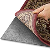 Alpine Neighbor Area Rug Pad with Grip Tight Technology (5x8)   Non Slip Padding Perfect for Hardwood Floors   Thick Felt Cushion for Rugs Nonskid Kitchen Persian Carpet Mat Natural Grey