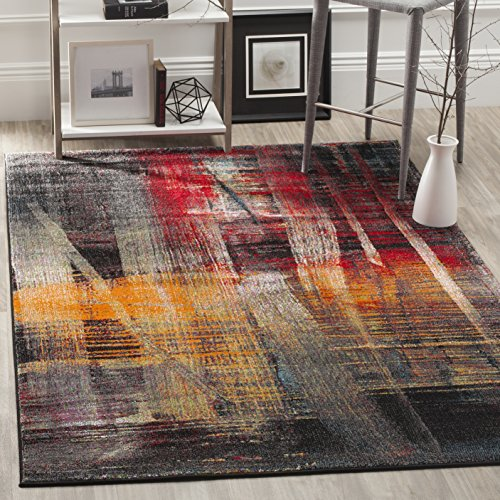 - Safavieh Porcello Collection PRL6936A Modern Abstract Art Multicolored Area Rug (5' x 8')