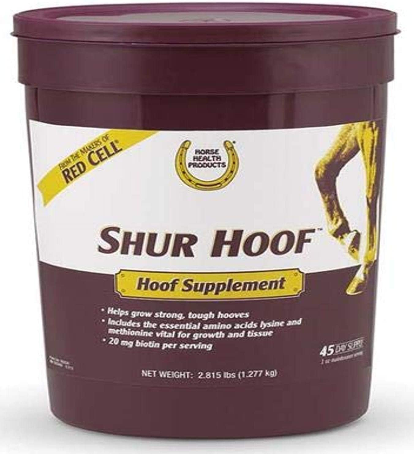Horse Health Shur Hoof Hoof Supplement, 2.815 lbs