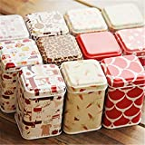 Metal Cover Tea Storage Tins Canister Box Candy Sugar Candy Coffee Red Rabbit