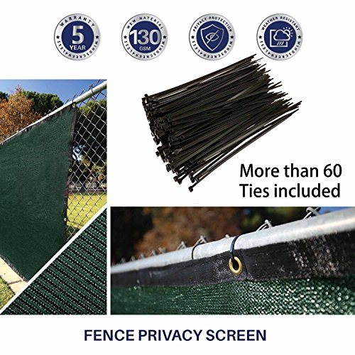 Amagabeli fence privacy screen 6x50 for chain link fence for Garden screening fabric