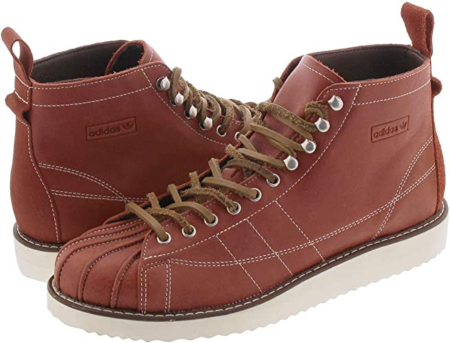 Amazon.co.jp: Adidas SST BOOTS WILD SEPIA/OFF WHITE/BROWN - brown ...