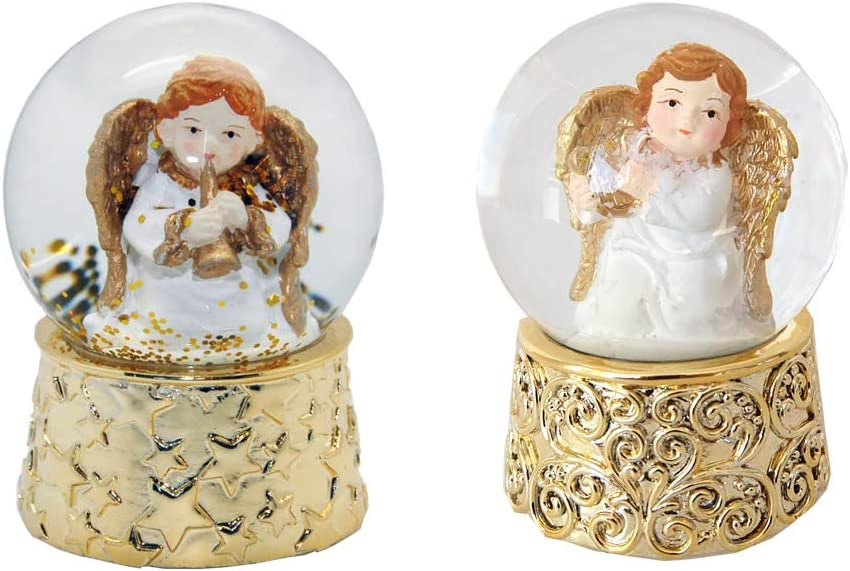 Minium Collection 3-20-53 Lot de 2 jolies boules de souvenirs avec bulle dair Diam/ètre 65 mm