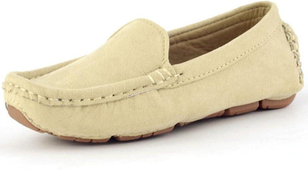 DADAWEN Girl's Boy's Soft Suede Leather