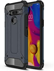 DEVMO Phone Case Compatible with LG G8 ThinQ Hard Plastic Shell Case/Shockproof Hard Bumper/Protective Cover Dark Blue LMG820QM7/LM-G820UMB/LMG820UM0/LMG820UM1/LMG820UM2/LM-G820N/LM-G820