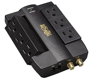 Tripp Lite Protect It! Protector contra sobretensiones con 6 tomacorrientes basculantes, diseño para conexión