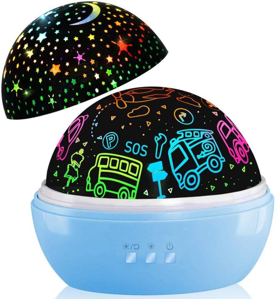 Lampara Proyector Infantil,regalos de niños 2-9 años,8 Modos Iluminación Proyector Estrellas, Luz de Nocturna para Niños y Bebés Cumpleaño