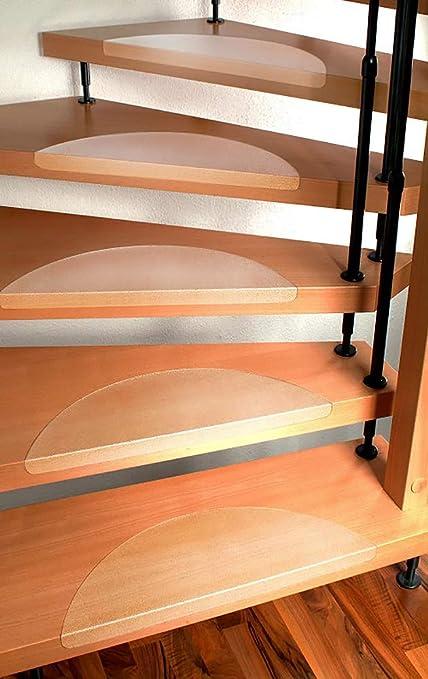 Ergonomic Technology Stufenmatten Set für Treppenstufen - 15 Stück, klar -  Größe nach Wahl