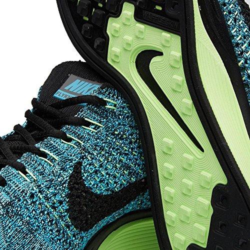 Nike Unisex Flyknit Strimma Löparsko Blå Lagun, Svart, Blå Plrzd