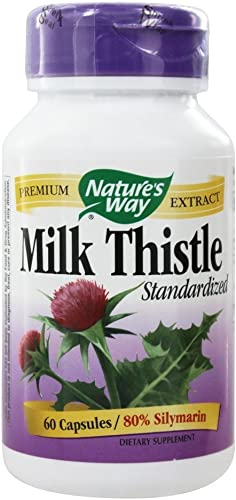 Milk Thistle Extract Supports Liver Function 80 Silymarin 60 Vegan Capsules