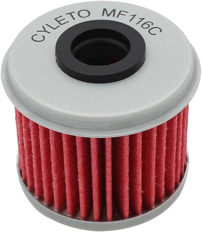 Cyleto Filtro de aceite para CRF450R CRF450 R CRF 450R 2002-2016//CRF450X CRF 450 X 2005 2006 2007 2008 2009 2012 2013 2014 2015 2016