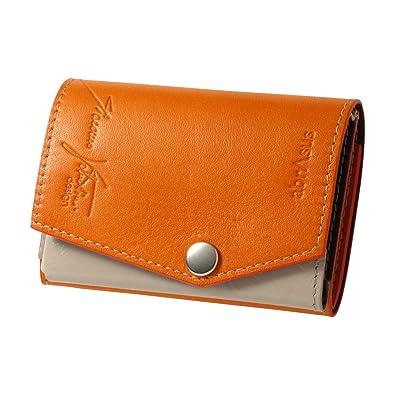 483cb4a89e7f Amazon | 小さい財布 abrAsus × Giacomo Valentini オレンジ | abrAsus ...