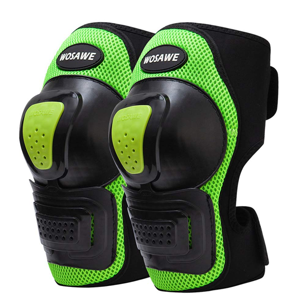 Knee Pads, 1 Pair Adjustable Crashproof Antislip Predective Shin Guards for Outdoor Motorcycle Mountain Snowboarding Mountain Biking