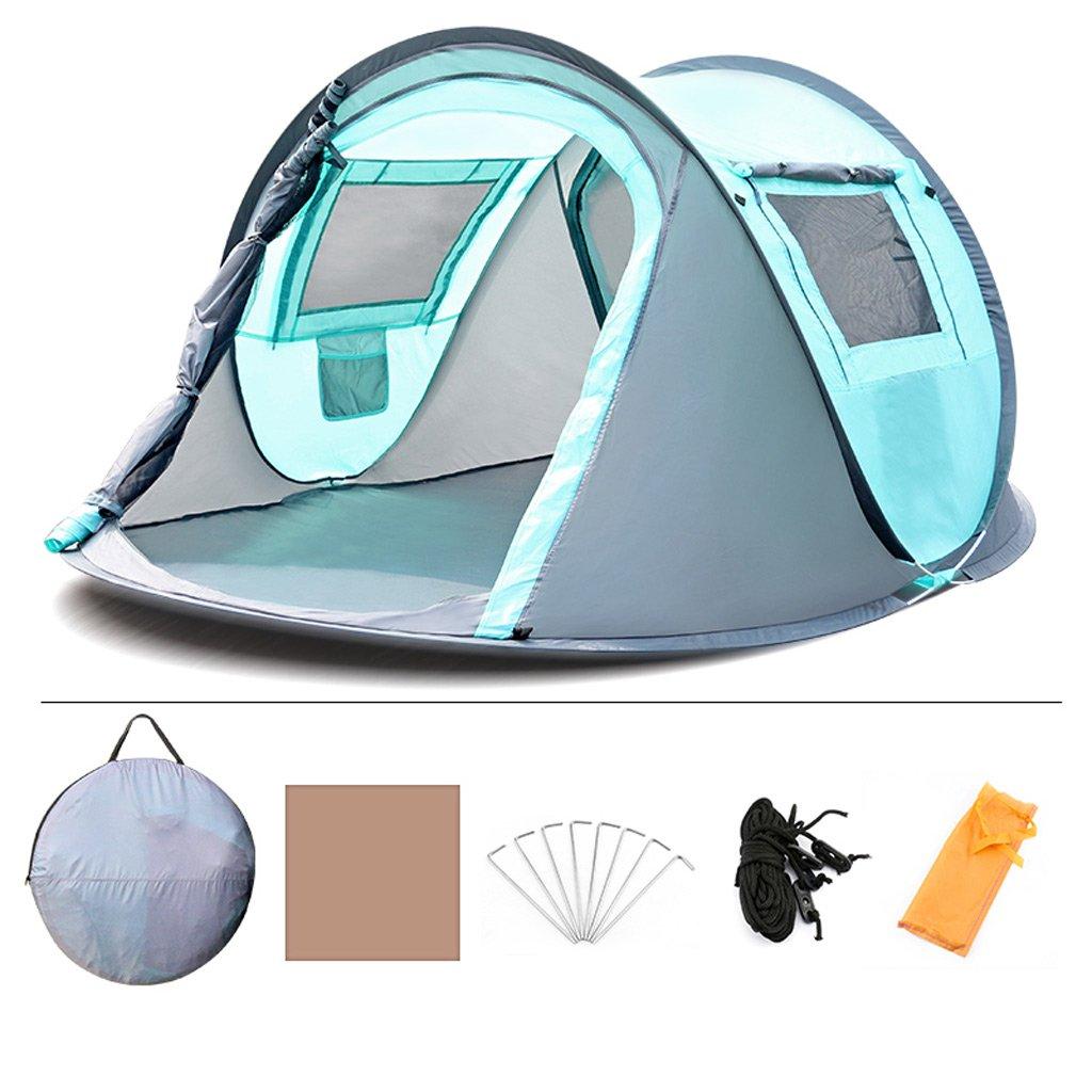 XY&CF Automatisches sofortiges kampierendes Zelt 4 Leute wasserdichtes UV im Freien kampierender wandernder Familienstrand (Farbe : B)