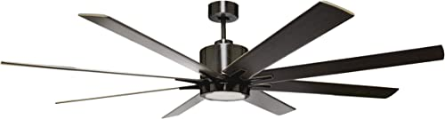 HOMEnhancements METRO 8-blade 66 in. matte black ceiling fan