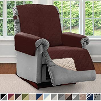 Stupendous Sofa Shield Original Patent Pending Reversible Large Recliner Protector Seat Width To 28 Inch Furniture Slipcover 2 Inch Strap Reclining Chair Ibusinesslaw Wood Chair Design Ideas Ibusinesslaworg