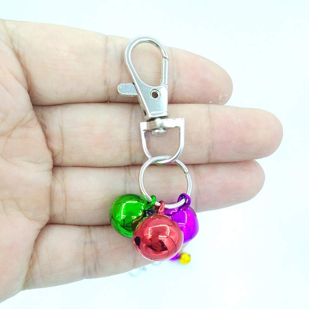 Rekkle Safety Loud Lightweight Colorful Bell Keychain Copper DIY Pet Collar Key Ring Bell Random Color