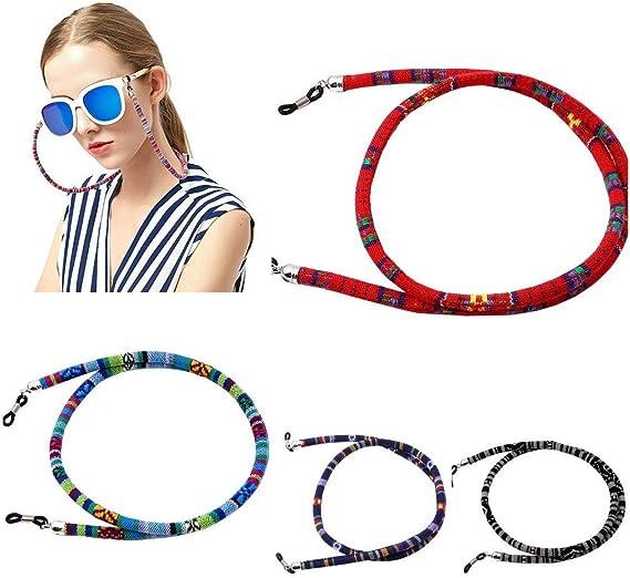 Cuerda Gafas de Sol Hifot Correa Gafas 6 Piezas Tejer Retenedor Cadenas Gafas Lectura Cuello Correa para Mujer Hombre ni/ños