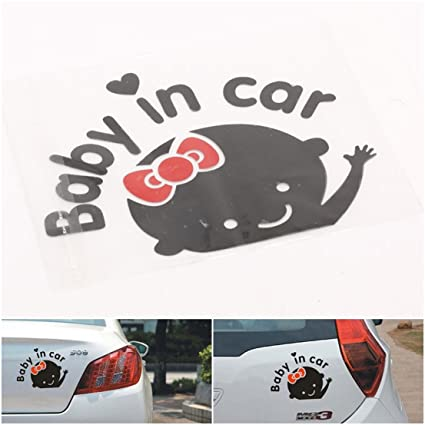 1 pc extreme popular baby in car stickers truck decor safety on board cute decal