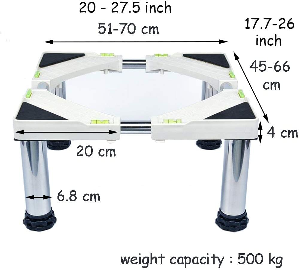 4foot Color : 4foot, Size : 14-17cm BNSDMM Household Appliance Base Pedestal for Washing Machine Adjustable Universal Moveable Special Base for Domestic Appliances 12foot 8foot