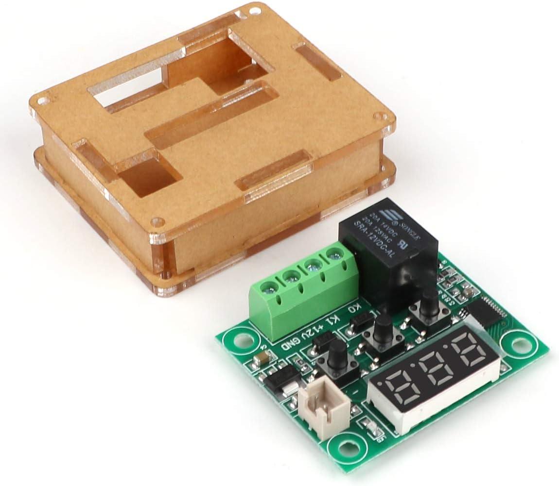 50-110/° C Elektronischer Temperaturregler Schalter mit Acrylgeh/äuse und wasserdichter NTC-Sonde Micro Digital Thermostat 4 St/ücke Digitaler Temperaturregler 12V DC W1209