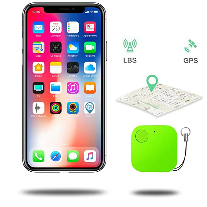 NiceMax Key Finder, Bluetooth Anti-Lost Location Tracker Alarm Two-Way  Wallet Locator PhoneTracker Device with Selfie Remote Control Shutter for