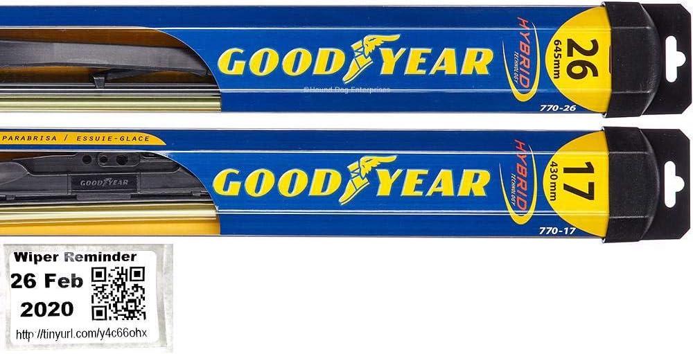 2017 /& 2018 Subaru Forester Wiper Blades Set 2015,2016 2014